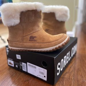 "Sorel ""Out N About"" waterproof suede booties"